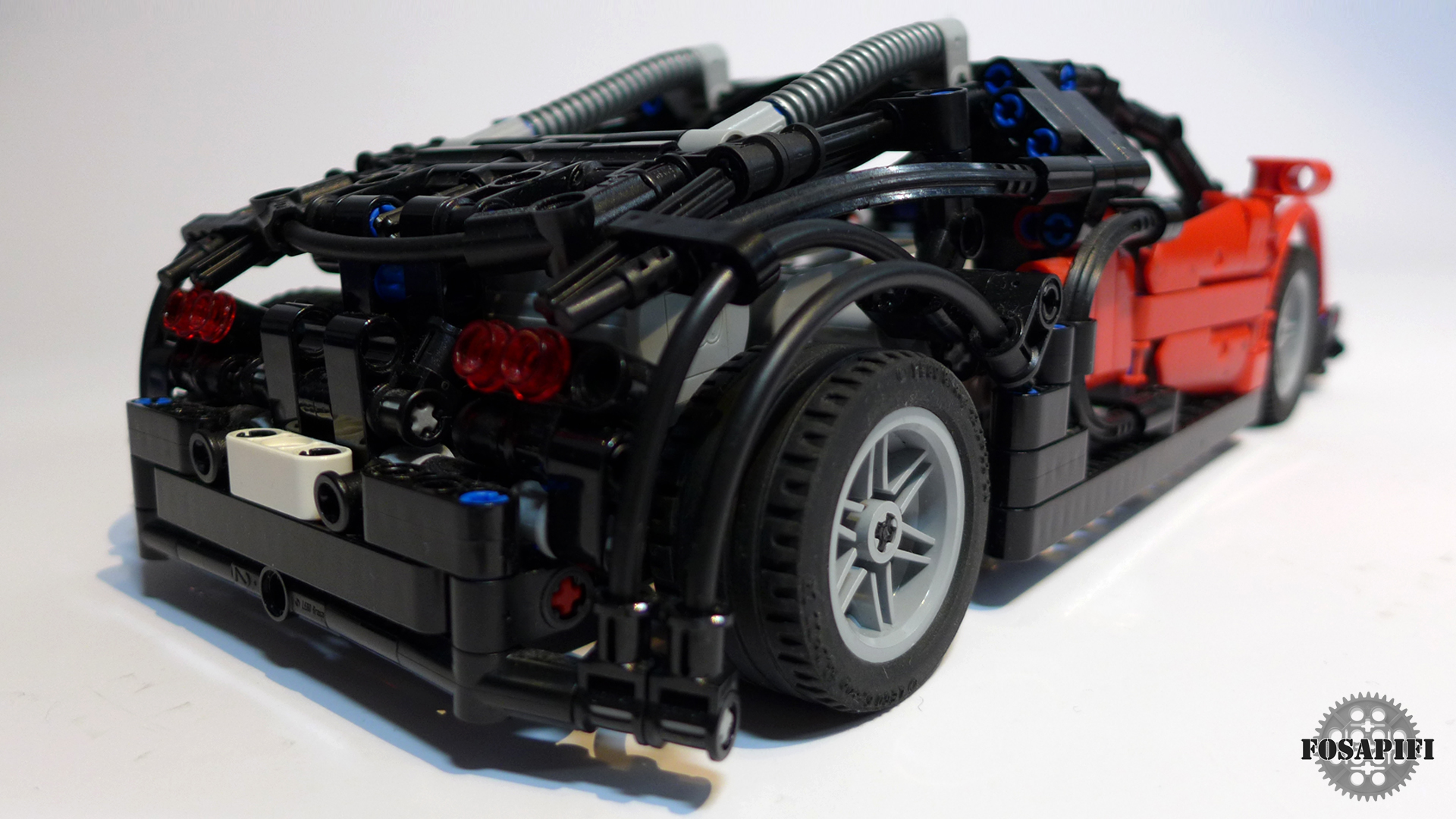 lego technic creations by fosapifi bugatti veyron 16 4 moc. Black Bedroom Furniture Sets. Home Design Ideas