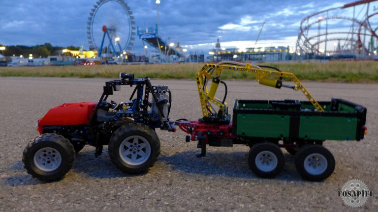 Tractor with Trailor - LEGO Technic Creations by FOSAPIFI